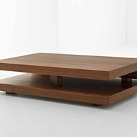 Low rectangular wooden coffee table Penrose Collection by Passoni Nature | design AP Studio