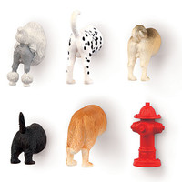 KIKKERLAND DOG BUTT MAGNETS SET OF 6