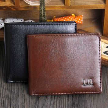 Men Bifold Business Leather Wallet  ID Credit Card Holder Purse Pockets  2 Colors