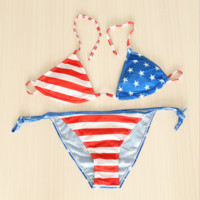 Sexy bikini sexy wear - resistant polyester split two - piece swimsuit Star pattern