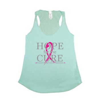 Women's Tank Top Breast Cancer Awareness Hope for the Cure