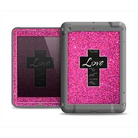 The Love is Patient Cross over Pink Glitter Print Apple iPad Air LifeProof Fre Case Skin Set