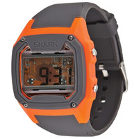 Freestyle 101262 Men's Killer Shark Skeleton Orange Digital Dial Grey Rubber Strap Alarm Watch