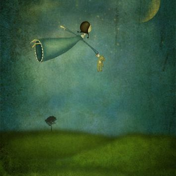 Fly me to the moon by majalin on Etsy