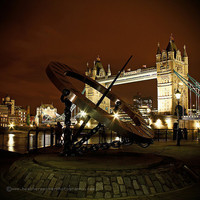 Tower Bridge at Night London 8x8 signed by HConwayPhotography