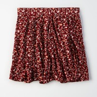 AE Godet Mini Skirt, Burgundy
