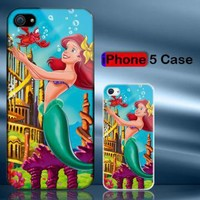 Little Mermaid Ariel and Friends iPhone 5 Case Cover by Handicase on Zibbet