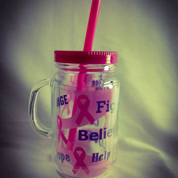 Fight Believe Help, Breast Cancer Mug
