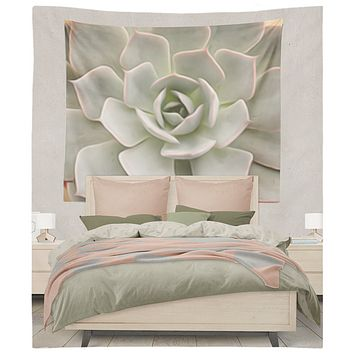 Beautiful Succulent Flower Abstract Design Tapestry Wall Hanging Meditation Yoga Grunge Hippie