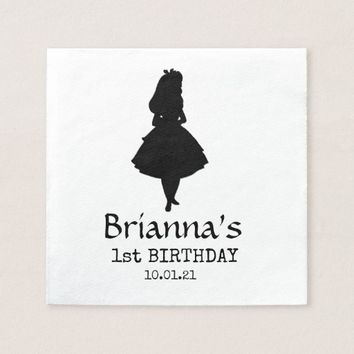 Alice In Wonderland Birthday Paper Napkin