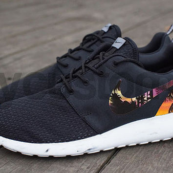Nike Roshe Run Black DC Comics from NYCustoms on Etsy