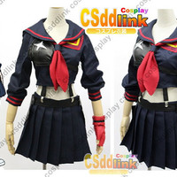 Kill la Kill Matoi Ryuko Senketsu sailor uniform cosplay costume