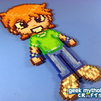 Scott Pilgrim - Custom Chibishou Perler Bead Sprite Pixel Art Decoration