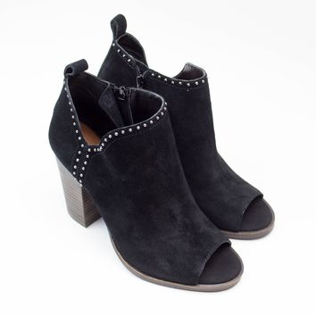 Black Open Toe Bootie - Lucky Brand
