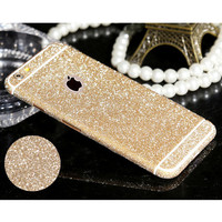 For iPhone 4 4s 5  5s  6 6Plus Hot selling Full Body Glitter Bling Phone Sticker Matte Screen Protector