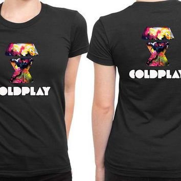 VONEED6 Coldplay Logo 2 Sided Womens T Shirt