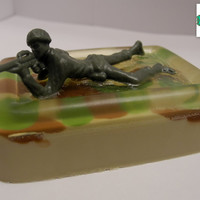 Army Soldier soap bar - Camo soap, Toy soap, Army soap, Military soap, Shea Butter soap, Honey soap, Handmade soap