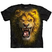 The Mountain ASIAN LION Face T-Shirt Angry Growling Mad Animal Mens Sizes S-5XL