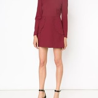 Red Valentino Scalloped Detail Dress - Eraldo - Farfetch.com