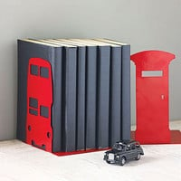 london transport and british icon bookend by susan bradley design | notonthehighstreet.com