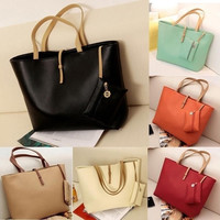 Women PU Leather Tote Shoulder Bags Hobo Handbags Satchel Messenger bag Purse = 1932752708