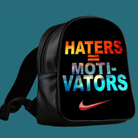 Nike Haters Motivation Nebula Galaxy for Backpack / Custom Bag / School Bag / Children Bag / Custom School Bag *
