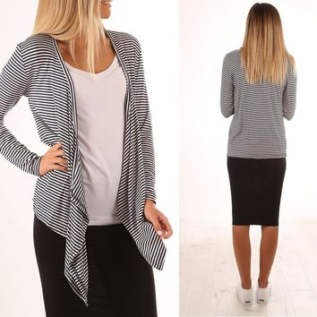 Winter Ladies Stripes Jacket [274458837021]