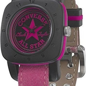 Converse 1908 Premium Watch - VR029 (REGULAR BLACK CASE/PINK WASHED STRAP)