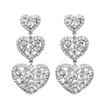 Heart Drop Earrings for Love