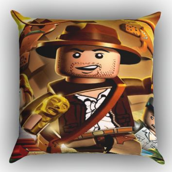 Lego indiana jones Z1601 Zippered Pillows  Covers 16x16, 18x18, 20x20 Inches