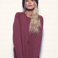 Marl Sweater Wine