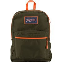 JanSport Overexposed Backpack - Green Machine/Fluorescent Orange / 16.7H x 13W x 8.5D
