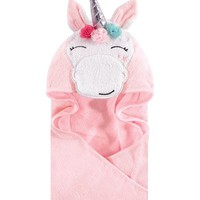 Whimsical Unicorn Animal Hooded Towel