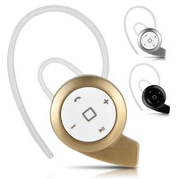 Mini Wireless HD Stereo Bluetooth Headset Headphones Cellphone Earphone for iPhone Samsung 3 Colors Gold Black Silver