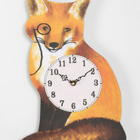 Plum & Bow Fox Wall Clock