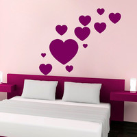 Wall Decals Heart Decal Vinyl Sticker Window Nursery Bedroom Kitchen Bathroom Home Decor Dorm Living Room Interior Hall Art Murals MN456