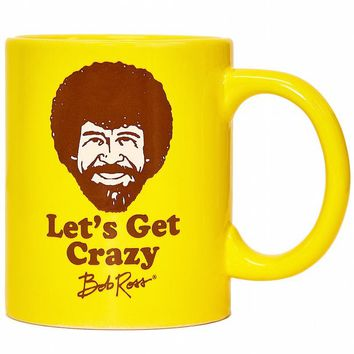 Let's Get Crazy Bob Ross Coffee Mug