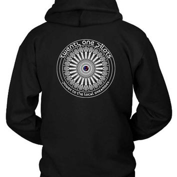 DCCKG72 Twenty One Pilots Power To The Local Dreamer Hoodie Two Sided
