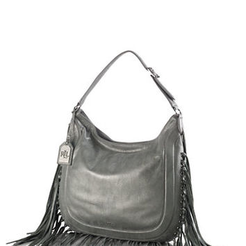Lauren Ralph Lauren Fleetwood Leather Hobo Bag