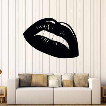 Vinyl Wall Decal Sexy Lips Girl Room Beauty Shop Salon Stickers Mural Unique Gift (612ig)
