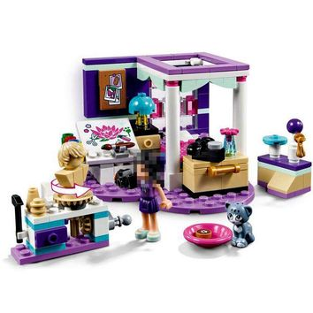 01065 Emma's Deluxe Bedroom Legoing Friends Princess Building Blocks Toys for Children Compatible Legoings Figures Girls 41342