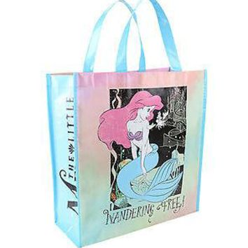Licensed cool Disney LITTLE MERMAID Ariel Wandering  Tie Dye Tote Reusable Grocery Eco Bag
