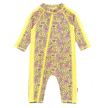 """Sunsuit - Long Sleeve Romper Swimsuit with UV 50+ UV Sun Protection   """"Ditsy Floral"""""""