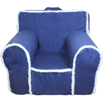Regular Blue Sherpa Chair Cover for Foam Childrens Chair