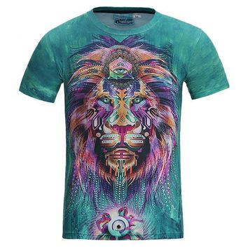 Colorful Hair Lion King - All Over Print - Unisex T-shirt