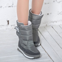 Winter Women's Snow boots 8 Color Warm waterproof Wedge Boot  Cotton inline winter shoes ZYMY-xz-29