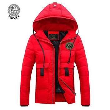 Versace Fashion Down Cardigan Jacket Coat Hoodie-4