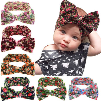 Baby Kids Girl Toddler Infant Flower Floral Hairband Turban Knot Rabbit Bowknot Headband Headwear Hair Band Accessories kt-038