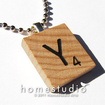 STANDARD LETTER CHARM, a Pendant from a Scrabble Game Tile