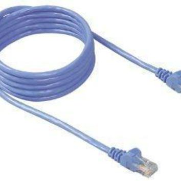 Belkinponents 3ft Cat5e Snagless Patch Cable, Utp, Blue Pvc Jacket, 24awg, T568b, 50 Micron, G